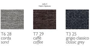 Julia II Fabric Choices